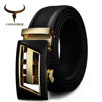 Designer Automatic Buckle  Leather belt F