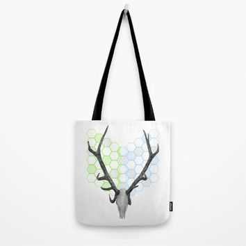 Stag Skull Tote Bag by mailboxdisco