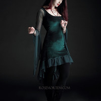Nixie Faerie Dress in Velvet - Custom Romantic Gothic and Faerie Clothing