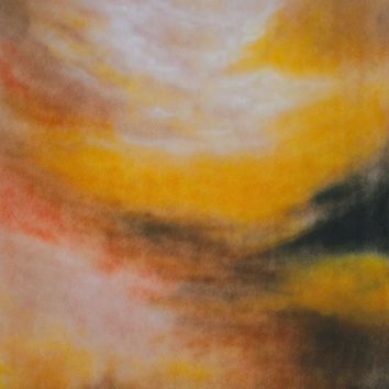 Printed Muslin Abstract Dusty Yellow Sunset Backdrop - 110-19