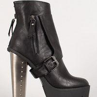 Harness Buckle Lug Sole Bootie