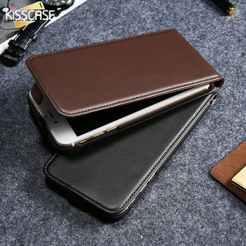 KISSCASE Vintage Flip PU Leather Leather Case For Iphone 5 5S 6S Phone Cases Cover Coque For Iphone 5S 6 6S Plus 7 7Plus Fundas
