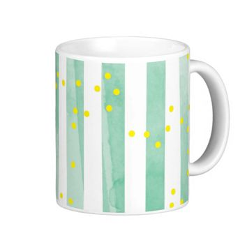Vintage White Stripes Pattern Coffee Mug