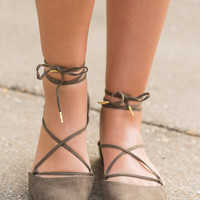 Laced With Love Flats, Olive