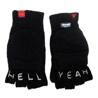 """Hell Yeah"" Knuckle Tattoo Gloves"