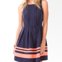 Essential Colorblocked Pleated Dress