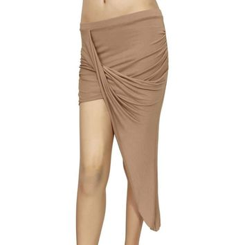 Women's Rayon Skirt Twisted Draped Asymmetrical Made in the USA