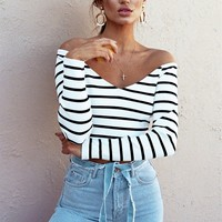 Cosimia Stripe Top - Tops by Sabo Skirt