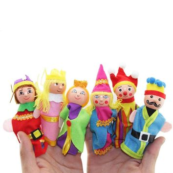 6 PCS Montessori Finger Puppets Kawaii Excellent Design Cartoon Cute Lovely Fun Funny Gadgets Friends Family Party Accessories