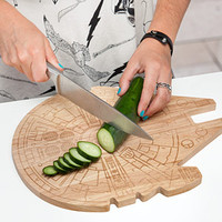 Star Wars Millennium Falcon Wooden Cutting Board