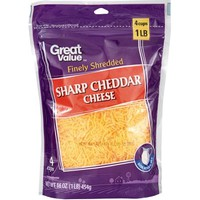 Great Value Sharp Finely Shredded Cheddar Cheese, 16 oz - Walmart.com