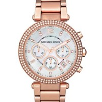 Michael Kors Women's Chronograph Mini Parker Rose Gold-Tone Stainless Steel Bracelet Watch 33mm MK5616 | macys.com
