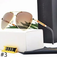 Porsche New Trend Fashion Men's Polarized Metal Large Frame Sunglasses F-A-SDYJ #3