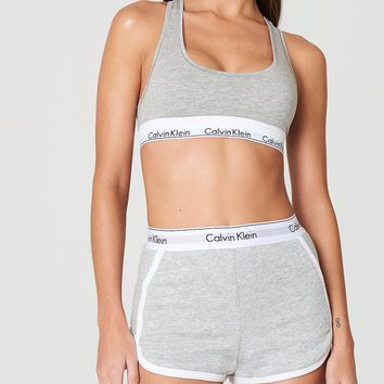 CK Women Shorts Calvin Klein Sport Print Letters White Edge Cotton Pants White Underpants