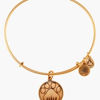 Women's Alex and Ani 'Paw Print' Expandable Wire Bangle - Russian Gold