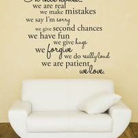Vinyl Wall Decal Sticker Art In this house by urbanwalls on Etsy