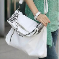 Vintage Strong Character Stylish Punk PU Leather Bags One Shoulder Tote Bag [6583220103]