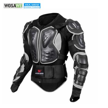 WOSAWE Breathable Motorcycle Jacket Racing Armor Protector Motocross Body Protection Elastic Cycling Jacket Protective Gear