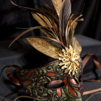 Nature Sprite Fantasy Masquerade Mask | crowedesigns - Clothing on ArtFire