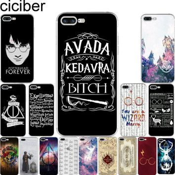 Harry Potter Hogwarts Soft Silicone Cases Cover for Iphone 7 6 6S 8 Plus 5S SE X