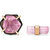 Melissa Joy Manning - 14-karat gold tourmaline earrings