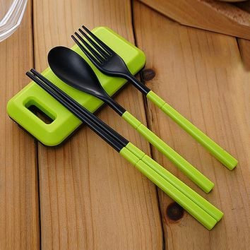 Protable Folding Dinnerware Set For Kids Bento Lunch Accessories  HG99