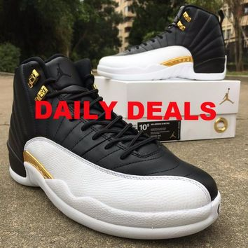 Nike Air Jordan Retro 12 WINGS Black Metallic Gold 848692-033