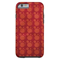 Retro Red Grungy Polka Dots Pattern