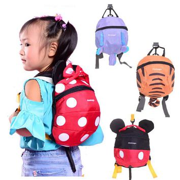 4 colors Free Ship Baby Kids Keeper Assistant Toddler Walking Wings Safety Harness Backpack Bag Strap Rein Harnesses & Leashes