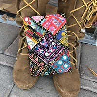Boho Patchwork Embroidered Journal