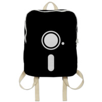 SAVE TO DISK Monochrome Disk backpack created by ctrlaltdesign | Print All Over Me