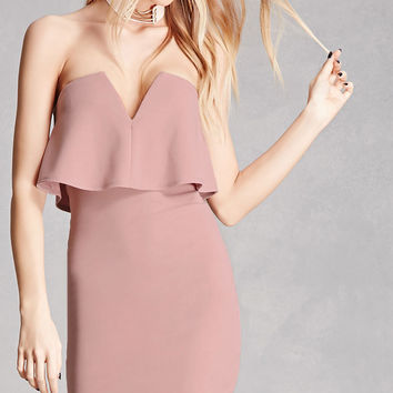 Strapless Bodycon Mini Dress