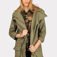 Miss Officer Jacket - Olive at Necessary Clothing