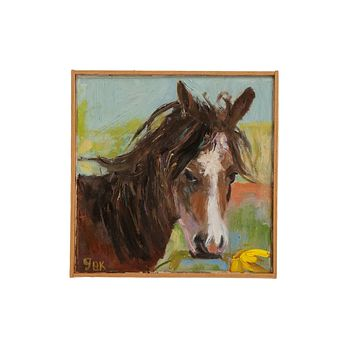 "Grace B. Keogh ""Horse with Flower"" Painting"