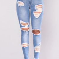 Nessa Distress Jeans - Light