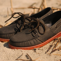 Ronnie Fieg X Sebago Almani - Charcoal / Orange | 7 Shoes | Ronnie Fieg x Sebago