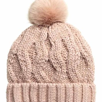Cable-knit hat