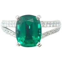 Cartier Emerald and Diamond Ring