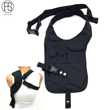 Tactical Anti-thief Portable Outdoor Security Multifunction Climbing Hunting Hidden Shoulder Armpit Bag Pistol Holster