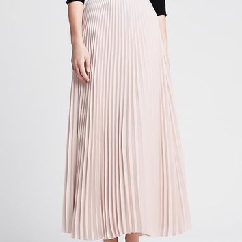 Banana Republic Womens Monogram Pleated Crepe Patio Skirt