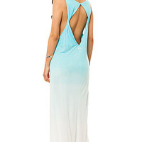 RVCA The Dahomey Dipdye Ombre Maxi Dress in Lagoon : Karmaloop.com - Global Concrete Culture