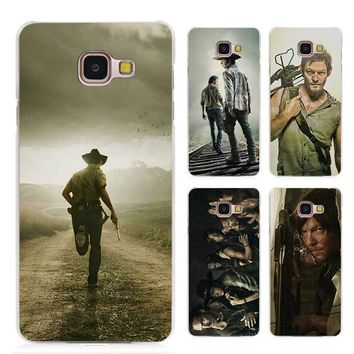 The Walking Dead Zombie Rick Daryl Dixon Wings Clear Case Cover Coque Shell for Samsung Galaxy A3 A5 A7 A8 2016 2017 A9 Pro