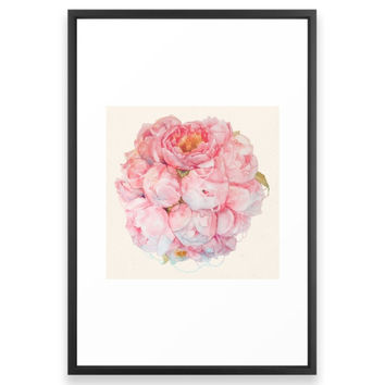 Society6 Tender Bouquet Framed Print