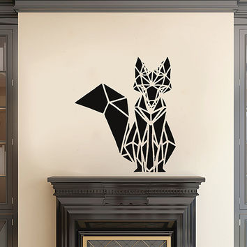 kik2951 Wall Decal Sticker animal fox living room bedroom geometric style