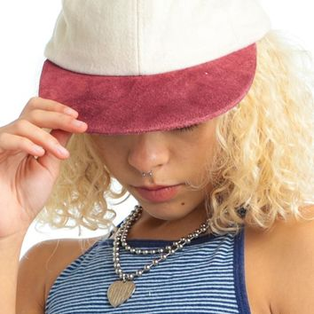 Vintage Y2K Wool Leather Mix Ball Cap