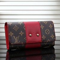 Louis Vuitton LV Women Fashion Leather Purse Wallet
