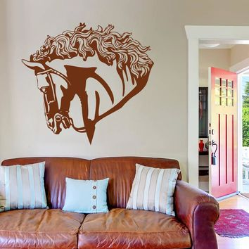 ik698 Wall Decal Sticker head horse nag pet stallion thoroughbred horse bedroom