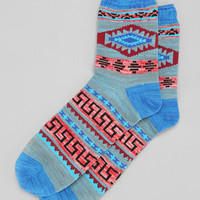Mesa Pattern Camp Sock - Urban Outfitters