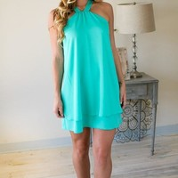Yes To The RSVP Mint Halter Dress