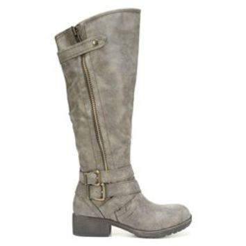 Madden Girl Master Wide Calf Boot Stone